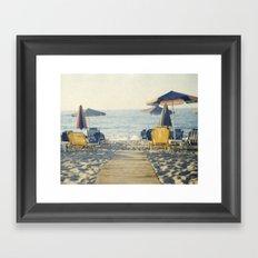 beach photo Framed Art Print