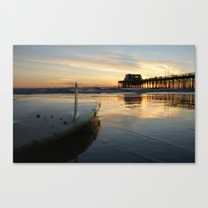 Surfing In January Canvas Print
