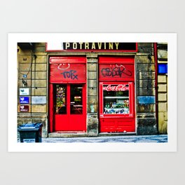 Prague Graffiti # 10 Art Print
