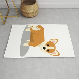 Hey Corgeous Cute Corgie Pun Rug