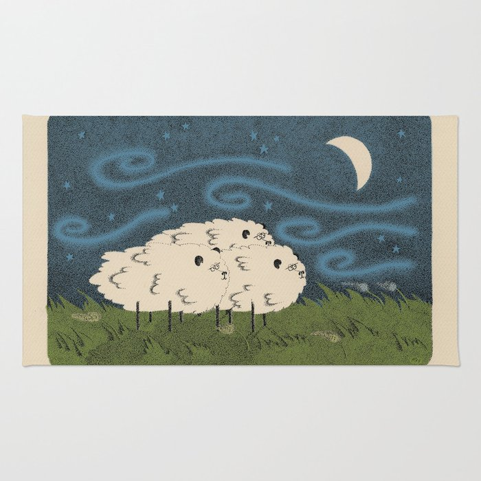 Three Sheeps to the Wind Rug
