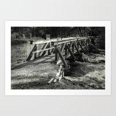 the wooden bridge Art Print
