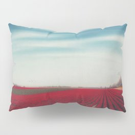 Field of Red Tulips Pillow Sham