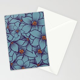 blue orchid flowers Stationery Cards
