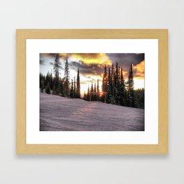 silverstar sunset Framed Art Print