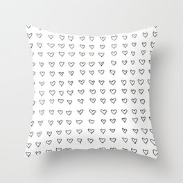Hearts Throw Pillow