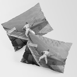 Tennis Players In Flight Gladys Roy And Ivan Unger Pillow Sham