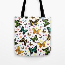 Flying Butterflies Tote Bag