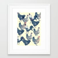 chicken Framed Art Prints featuring CHICKEN by austeja saffron
