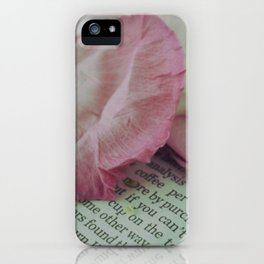 Rose Petals on Page iPhone Case