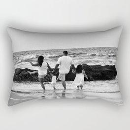 Kicking Waves Rectangular Pillow