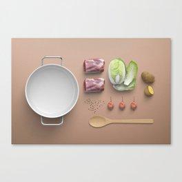 Food Flatlay Canvas Print