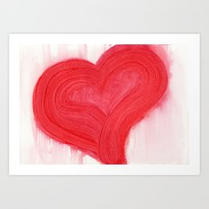a simple red heart Art Print
