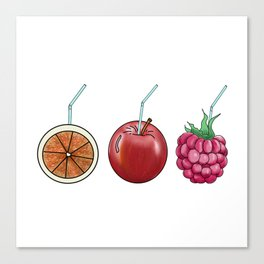 fresh fruit and cocktail rolls Canvas Print