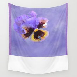 Lavender Pansy Wall Tapestry