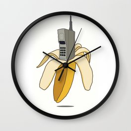 Banana Phone Wall Clock