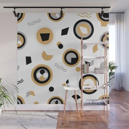 Circles and irregular shapes can very be interesting Wall Mural