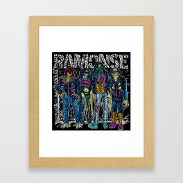 PUNK MONSTERS Framed Art Print