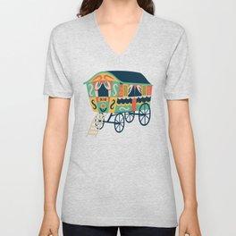 Gypsy Wagon Pattern Unisex V-Neck