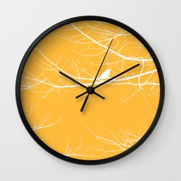 The Lonely Bird in the Tree III Wall Clock