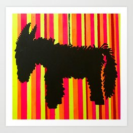 Donkey Piñata Art Print