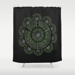 The Grey Flower Shower Curtain