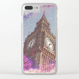 City in Nebula #society6 Clear iPhone Case