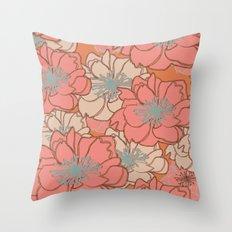 Loud Floral Throw Pillow