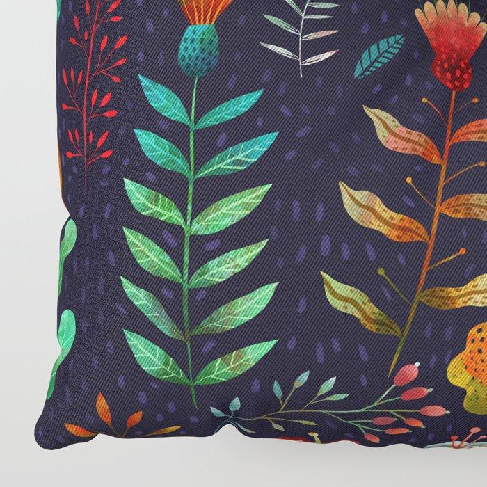 Bright flowers Floor Pillow