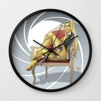 bond Wall Clocks featuring Bond Girl by Fernando Cano Zapata