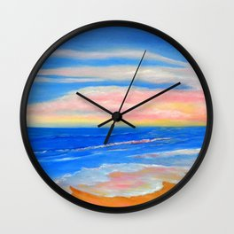Peacefully Pink Wall Clock