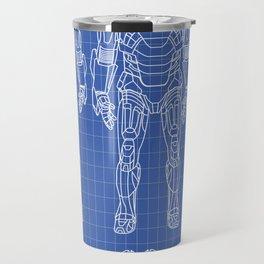 Iron Man mark 7 blueprints Travel Mug