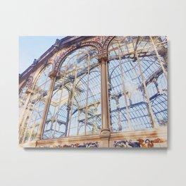 Palacio de Cristal Madrid Metal Print