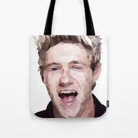 niall horan Tote Bags featuring Niall Horan - One Direction by jrrrdan