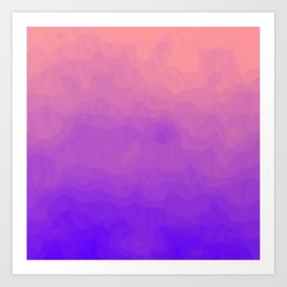 Pink and Purple Ombre - Swirly Art Print