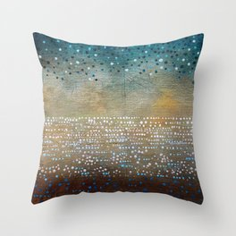 Landscape Dots - Turquoise Throw Pillow