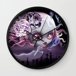 Ghostly Luna Wall Clock