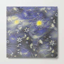Stonewashed flowers Metal Print