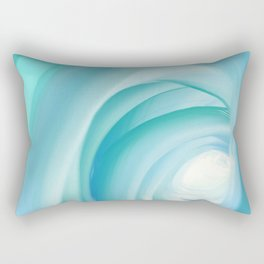 colorful cold blue shades abstract art Rectangular Pillow