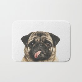 Cheeky Pug Bath Mat