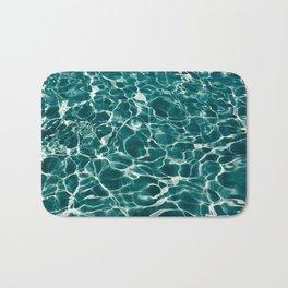SEA - blue , white ocean , waves , clear , clarity Bath Mat