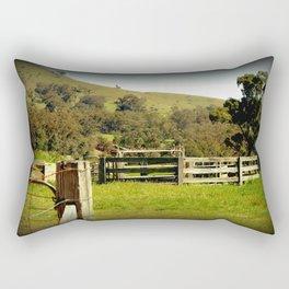 Cattle Yards Rectangular Pillow