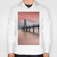 wooden Hoodies featuring  Wooden Pier by davehare