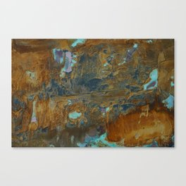 Blue Lagoons in Rusty World Canvas Print