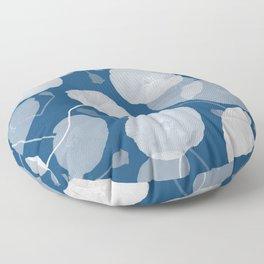 Monochromatic Poppies Floor Pillow