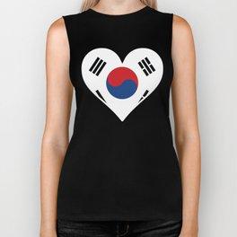 Korean Flag Heart Biker Tank