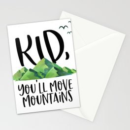 Kid You'll Move Mountains, Kids Poster, Gift For Kid, Home Decor, Kids Room Stationery Cards