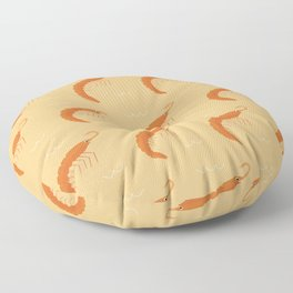 Shrimp parade Floor Pillow
