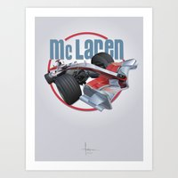 f1 Art Prints featuring McLAREN F1 by orlando arocena ~ olo409- Mexifunk