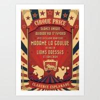 CIRQUE PRICE ROUGE Art Print